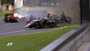 crazy formula 1 crash in close up and slow motion fernando alonso
