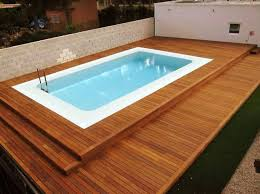 above ground pool decks kits with wooden deck around and