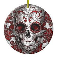 skull ornaments keepsake ornaments zazzle