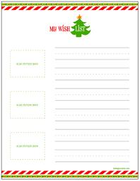 christmas wish list christmas gift wish lists for kids free printable