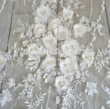 tissus robe de mari e blanc robe de mariée en dentelle tissu 3d mousseline de soie