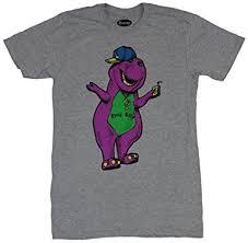 amazon barney dinosaur mens shirt hug hip hop