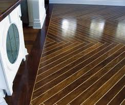 Hardwood Floor Border Design Ideas Large Format Custom Herringbone Wood Floor Crafted From Exotic