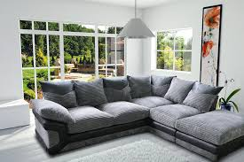 Corner Sofas Next Day Delivery 1 Year Warranty Brand New Dino Jumbo Cord Corner Sofa On