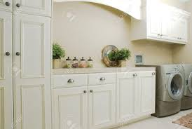 White Laundry Room Cabinets Furniture White And Blue Laundry Room Features Blue Height