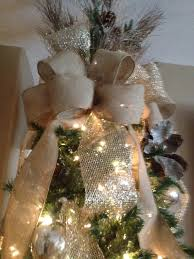 wide christmas ribbon 12 inch gold ribbon and burlap christmas tree topper with burlap