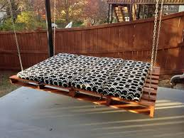 How To Make A Hanging Bed Frame Bedroom Gorgeous Outdoor Hanging Bed Design With Black And White