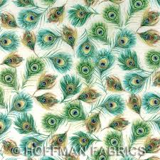 royal peacock with metallic cotton print quilting fabric by