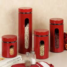 Italian Kitchen Backsplash Red Canister Set For Kitchen Kenangorgun Com