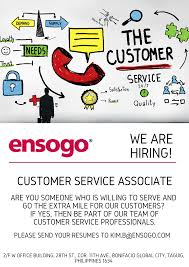 Job Description For Customer Service Associate Customer Service Associate Job Hiring Pinoyjobs Ph