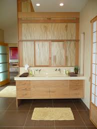 japanese bathroom ideas awesome bamboo bathroom cabinet with white granite sink also