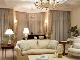excellent white shade living chandelier over luxury formal living