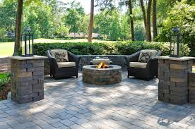 stone patio fire pit wood burning pool traditional with plus floor