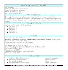 Computer Resume Sample Resume Computer Engineering Fresh Graduate Resume Ixiplay