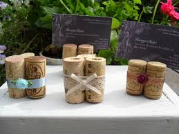 wine cork place card holder table numbers escort cards