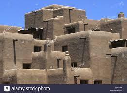 pueblo style architecture adobe pueblo style architecture in santa fe new mexico usa stock