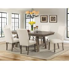 amazon com dex dining table u0026 6 side chairs table u0026 chair sets