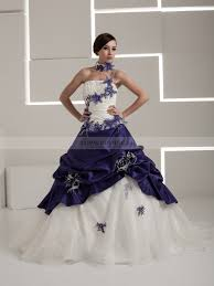 coloured wedding dresses uk two tone luxurios satin and taffeta wedding dress with floral design