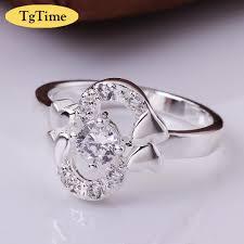 s ring new design heart besided letter s ring anillos de