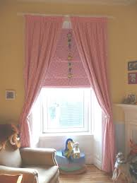 Nursery Curtain Ideas by Pink Nursery Curtains U0026 Roman Blind Rustic Home Ideas
