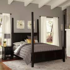 Black Four Poster Bed Frame Home Styles Bedford Black King Poster Bed 5531 620 The Home Depot