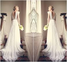 turmec cap sleeve wedding dress low back