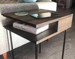 Modern Side Tables Modern Nightstands Etsy