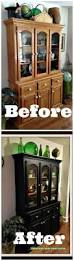 before and after kitchen cabinets painted china cabinet painted china cabinets hgtvpainted cabinet ideas