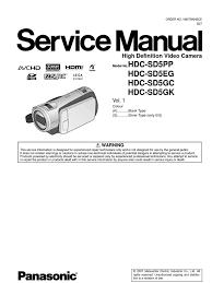 8516902 panasonic hdc sd5 series service manual repair guide