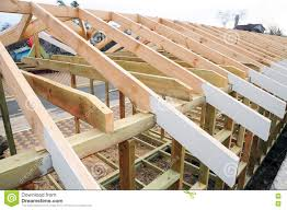 the wooden structure of the building roofing construction wooden