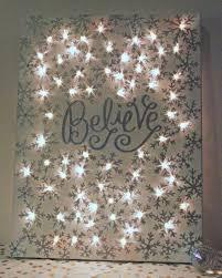 Christmas Home Decor Crafts How To Make A Lighted Christmas Canvas Christmas Canvas