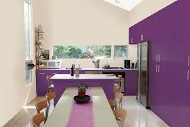 cuisine pourpre cuisine noir plan de travail bois blanc