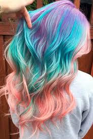 rainbow color hair ideas 1140 best rainbow of hair images on pinterest colourful hair