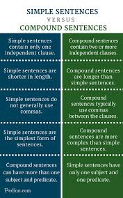 difference between simple and compound sentences
