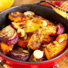 cuisiner un potiron recette poêlée de potiron aux oignons et au citron facile rapide