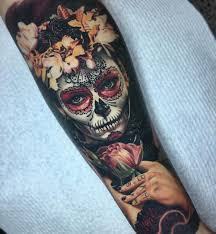 celtic sleeve tattoos for men floral day of the dead sleeve u003c u003csleeve tattoos u003e u003e pinterest