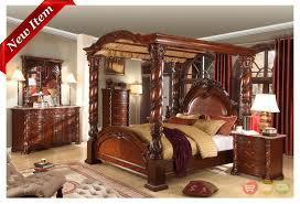 Castillo De Cullera Cherry Queen Size Canopy Bedroom Set Canopy - North shore poster bedroom set price