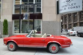 convertible mercedes red 1970 mercedes benz 280sl convertible stock 13320 for sale near