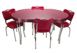 50s Dining Chairs Remarkable Retro Dining Set Red 48 In Modern House With Retro