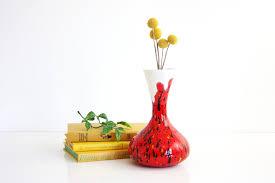 Studio Pottery Vase Sold Mid Century Modern Studio Pottery Vase Bright Red Vintage