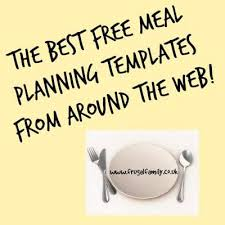 meal planning the diary of a frugal family