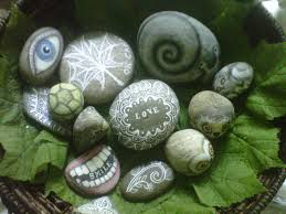 Rock For Garden by Painted Stones A Rock Drawing And Embellishing On Cut Out Keep