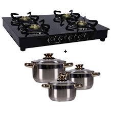 Prestige Cooktop 4 Burner Sunflame 4 Burner Oococina From Shopcj Rs 6 190 Limited Period