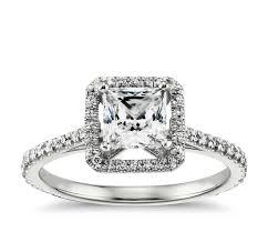 princess cut halo engagement ring princess cut floating halo engagement ring in 14k white