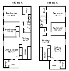 two apartment floor plans 2 bedroom apartments plans buybrinkhomes com