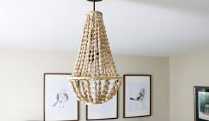 diy chandelier from wood beads designer trapped in a lawyer u0027s body