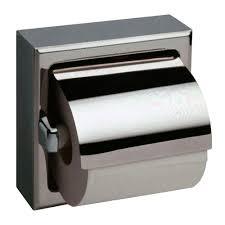 toilet paper dispenser bobrick b 6697 recessed toilet tissue dispenser w hood 1 roll