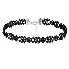 choker collar necklace vintage images Steampunk 8 pcs set black lace velvet short choker necklaces jpg