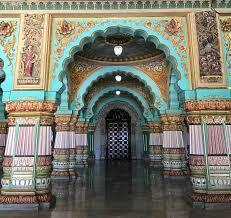 mysore palace interior india itinerary bangalore hampi mysore