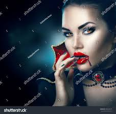 vampire halloween woman portrait beauty stock photo 488618974